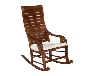 Sedia a dondolo in legno - 113x55x110 cm