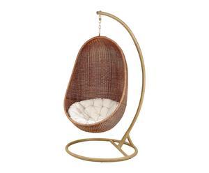 sedia a dondolo in rattan tatiana - 190x100x100 cm