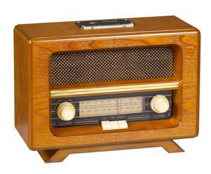 radio antica in legno con porta Usb vintage - 21x30x14 cm
