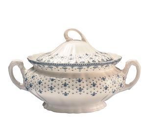 Zuppiera in porcellana Flor de Lis - D 32 cm