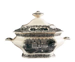 Zuppiera in porcellana Negro Vistas - 20X32X25 cm