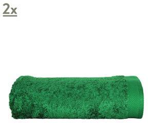 set di 2 teli bagno in puro cotone basics - menta