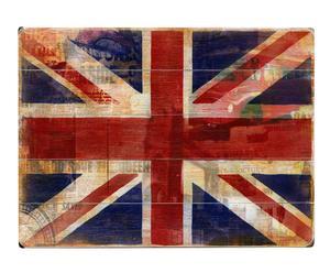 Quadretto decorativo in legno Union Jack - 41x31 cm