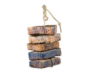 Decorazione in sughero e corda rapallo - 11x11x35 cm