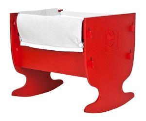 Culla in legno Leo rossa - 78x75x65 cm