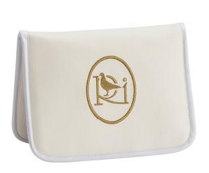 Portadocumenti in similpelle Dama bianca e dorata - 23x17x6 cm