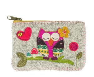 Portamonete in lana Owl - 15x11x3 cm