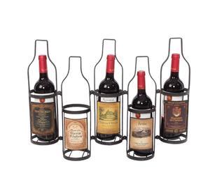 portabottiglie DA PARETE IN METALLO WINE - 55X42X10 CM
