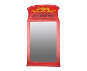 Specchio da parete in legno Telephone - 49x88x4 cm