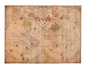Mappa in legno Mondo - 61x81x4 cm