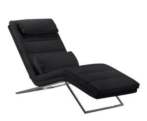 Chaise Longue Aposto - negro