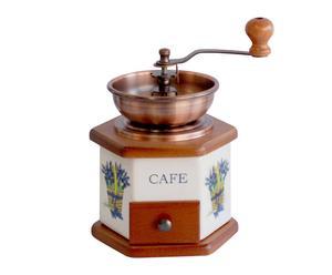 macinacaffè in legno e metallo cafè - 17x20x13 cm