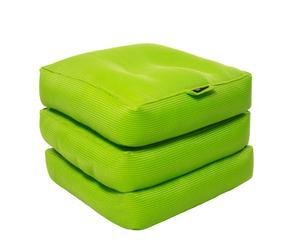 Materassino pieghevole in tessuto sintetico pistacchio Cube - 65x45x65 cm