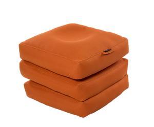 Materassino pieghevole in tessuto sintetico arancione Cube - 65x45x65 cm