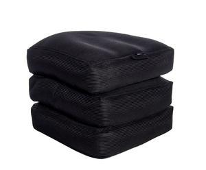 Materassino pieghevole in tessuto sintetico nero Cube - 65x45x65 cm