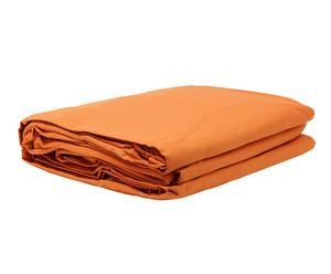 telo copridivano 2 posti in cotone Lazos Cotton arancione - 130-180 cm
