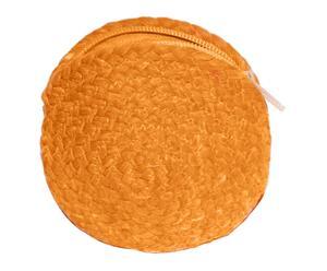 Portamonete in poliestere e viscosa arancione - d 12 cm