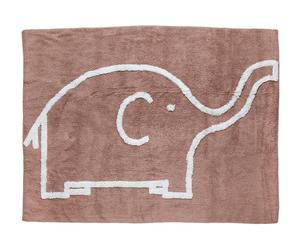 Tappeto in cotone taupe Elefante - 160x120 cm