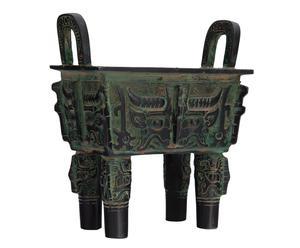 Incensiera in metallo Dinastia - 14x16x8 cm