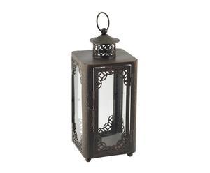 Lanterna in metallo e vetro Classic - 12x12x30 cm