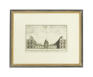 Litografia con cornice in legno Luxembourg - 63x51 cm
