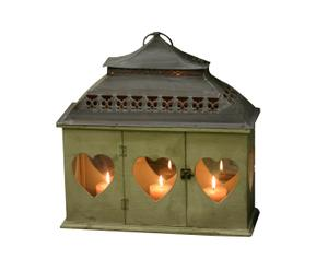Lanterna in metallo Heart - L48XB17XH48 cm