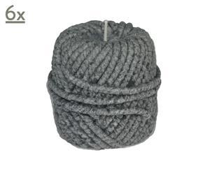 Candela in cera a forma di gomitolo grigia - H 9 cm