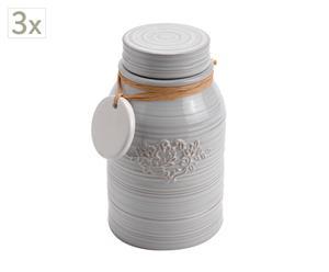 Vaso in dolomite con tappo Country - 17x10 cm