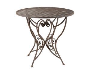 Tavolino rotondo in ferro Garden - 85x77 cm