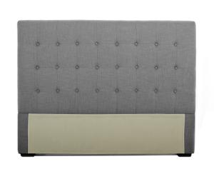 Testata per letto in tessuto Linette grigio - 150 cm