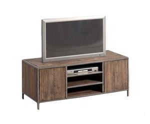 Mobiletto da TV in metallo e legno Insieme - 30x120x50 cm