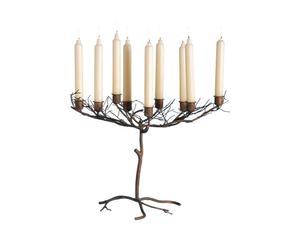 Set di 2 candelabri in ferro battuto Abete - 32x48x28 cm