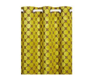 Tenda con asole per il bastone Olive - 140x280 cm