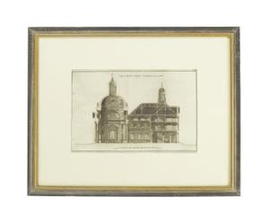 Litografia con cornice in vetro e legno PANTHEON - 63x51 cm