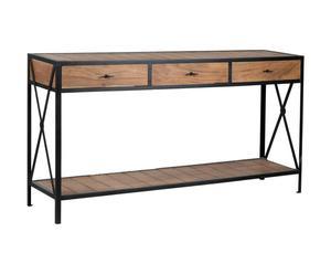 consolle in legno di acacia con cassetti Ernestine - 170x40x90 cm