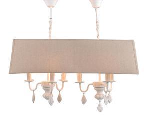 lampadario in metallo eglantine bianco - 78x39 cm