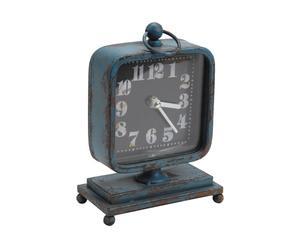 Orologio da tavolo in ferro BLEUE - 8x23x14 cm
