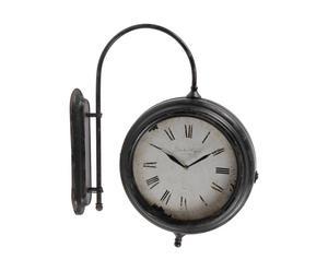 Orologio ad applique in ferro GARE - 51x12x61 cm