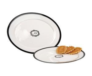 set di 2 piatti da portata in porcellana n.8 - Max D 39 cm