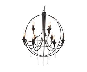 lampadario in ferro e vetro gabin - d 80/h 80 cm