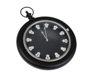 orologio da parete noire - 39x7x52 cm