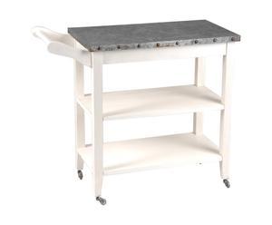 tavolo lavoro da cucina in mogano ariette - 87x40x72 cm
