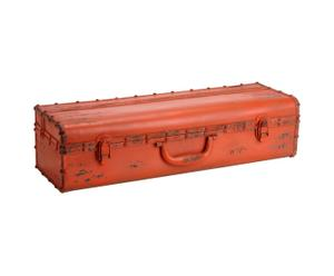mensola contenitore in metallo da parete malle arancione - 61x16x22 cm