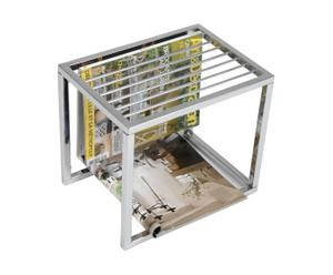 Tavolino portariviste in metallo Romeo - 35x30x25 cm
