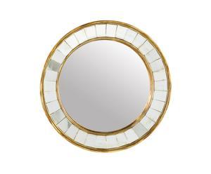 Specchio tondo da parete in metallo Facette' - D 36 cm<br />