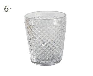 SET di 6 bicchieri in vetro Impero - 7x10 cm