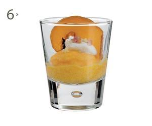 SET di 6 bicchierini in vetro City - 5x3 cm