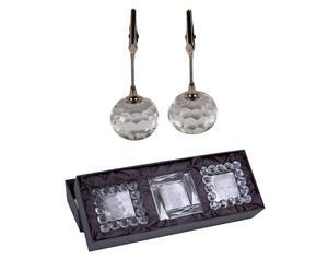 SET di 5 portafoto in vetro e metallo Crystal