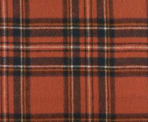 coperta in pura lana vergine Steward tartan arancione - 140x180 cm