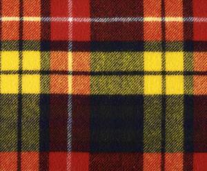 coperta in pura lana vergine buchanan tartan giallo - 140x180 cm